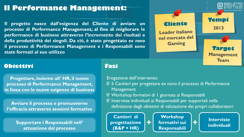 formazione, training, performance management